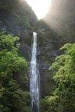 Caídas de Hanakapi'ai, Kauai Foto de archivo