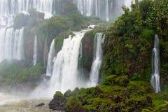 Caídas de Iguassu, la serie más grande de cascadas del mundo, la Argentina foto de archivo