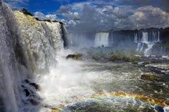 Caídas de Iguassu, visión desde la cara brasileña imagen de archivo libre de regalías
