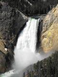 Caídas de la parte superior - Yellowstone imagen de archivo libre de regalías