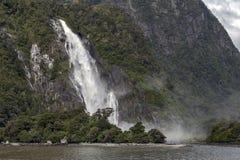 Caídas de señora Bowen, Milford Sound, Nueva Zelanda Fotos de archivo