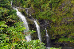 Caídas de Waikani, Maui, Hawaii Fotografía de archivo