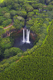 Caídas de Wailua, Kauai, Hawaii Imagen de archivo libre de regalías