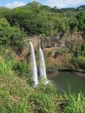 Caídas de Wailua, Kauai, HI. Fotos de archivo