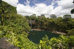 Caídas del arco iris de Hawaii Imágenes de archivo libres de regalías