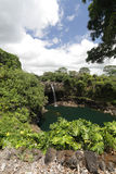 Caídas del arco iris de Hawaii Fotografía de archivo