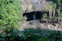 Caídas del arco iris, Isalnd grande, Hawaii Imagen de archivo