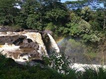 Caídas del arco iris (Waianuenue) Imagen de archivo