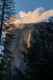 Caídas del fuego de Yosemite Fotografía de archivo libre de regalías