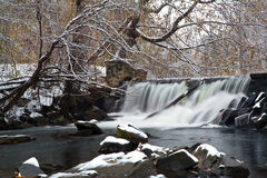 Caídas del invierno Imagen de archivo libre de regalías