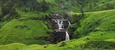 Caídas del ` s del St Clair Las cascadas más anchas en Nuwara Eliya, Sri Lanka paisaje inspirado del verano Imágenes de archivo libres de regalías