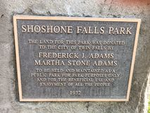 Caídas del Shoshone al oeste foto de archivo