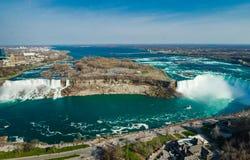 Caídas del zapato del caballo de Niagara Falls Ontario Canadá foto de archivo