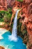 Caídas hermosas de Havasu, Supai, Arizona Imagenes de archivo