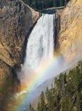 Caídas más bajas Yellowstone del arco iris Fotos de archivo libres de regalías