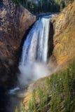 Caídas más inferiores de Yellowstone, Yellowstone NP Imágenes de archivo libres de regalías