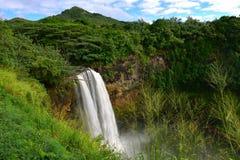 Caídas magníficas de Wailua Fotografía de archivo libre de regalías