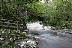 Caídas País de Gales del norte del agua de Nantcol Imagen de archivo