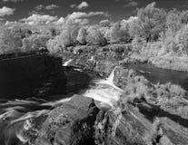 Caídas posteriores del cerdo, Ottawa, en infrarrojo Fotografía de archivo