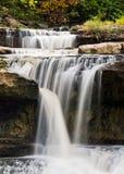 Caídas superiores de la catarata, Indiana fotografía de archivo