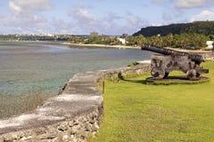 Cañón de Guam Foto de archivo