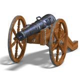 Cañón de la artillería de campo Fotos de archivo libres de regalías