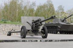 Cañón de la artillería del ejército Foto de archivo libre de regalías