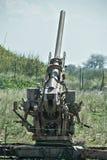cañón de la defensa aérea de 90 milímetros Fotografía de archivo
