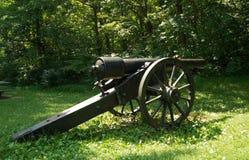Cañón de la era de la guerra civil - el condado de Appomattox, Virginia, los E.E.U.U. fotos de archivo
