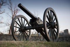 Cañón de la guerra civil de los E.E.U.U. Foto de archivo
