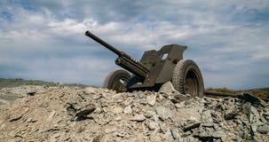 cañón de la guerra mundial de 35m m Unión Soviética 2 metrajes