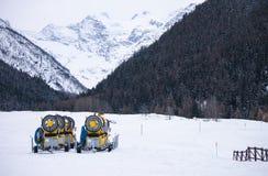 Cañón de la nieve Foto de archivo libre de regalías