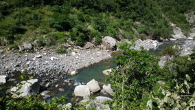Cañón de Somoto. River at the Cañón de Somoto in Nicaragua Royalty Free Stock Photo