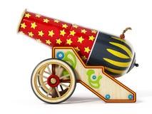 Cañón del circo aislado en el fondo blanco ilustración 3D stock de ilustración