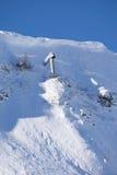 Cañón del gas para las avalanchas de la recuperación fotografía de archivo