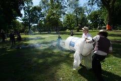 Cañón 34 del humo Imagen de archivo