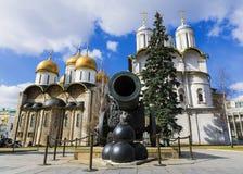 Cañón del zar en la Moscú el Kremlin, Rusia Foto de archivo libre de regalías