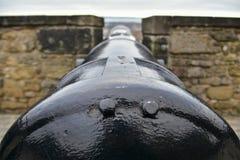 Cañón en Argyle Battery, castillo de Edimburgo Imagenes de archivo