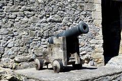 Cañón en el castillo de Cahir, Irlanda imagenes de archivo