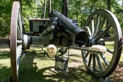 Cañón en el confederado Memorial Park en Alabama fotografía de archivo