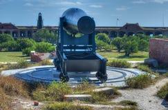 Cañón en el fuerte Jefferson, la Florida Imagenes de archivo