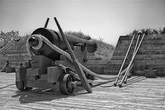 Cañón en la fortaleza McHenry Imagen de archivo