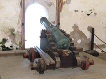 Cañón - fuerte San Cristobal - San Juan Puerto Rico imagen de archivo