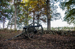 Cañón histórico de la guerra civil de Gettysburg imagen de archivo