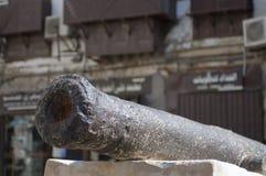 Cañón viejo en el mercado histórico Balad de Jedda Era del pre-Islam, Sau fotos de archivo libres de regalías