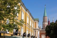 Cañón viejo en Moscú el Kremlin Fotos de archivo