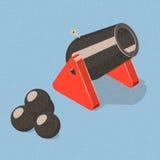 Cañón y obuses Imagen de archivo libre de regalías