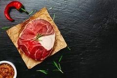 Caña de la carne cruda Imagenes de archivo