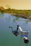Caña de pescar Imagen de archivo libre de regalías