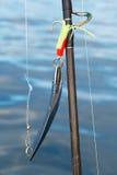 Caña de pescar Foto de archivo libre de regalías